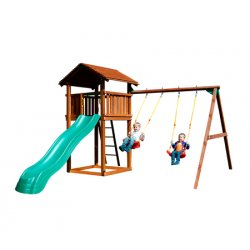 Детский городок JUNGLE GYM COTTAGE+SWING MODULE XTRA