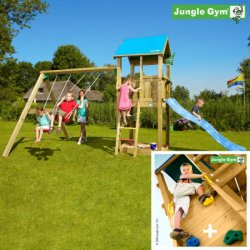 Детский городок Jungle Gym Castle + SwingModule Xtra + RockModule