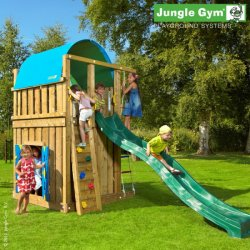 Детский городок Jungle Gym Villa + PlayhouseModule